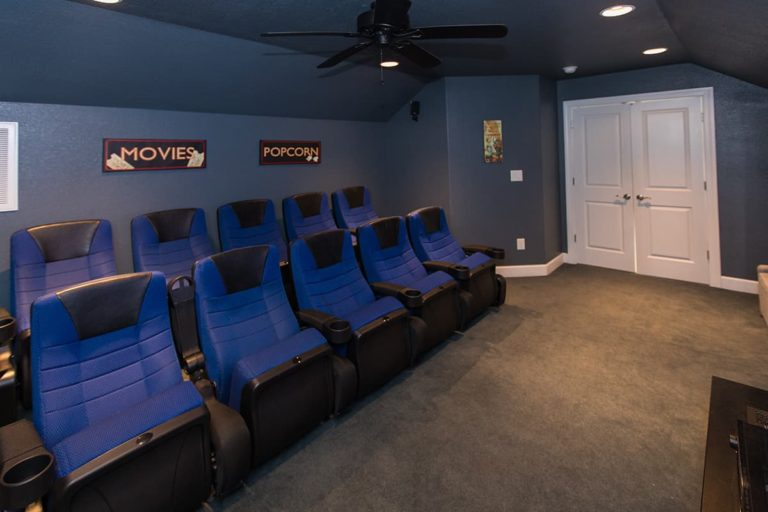 Theater room in Count Your Blessings